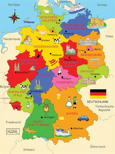kinderzimmer deko deutschland deutschlandkarte map of germany klassisch
