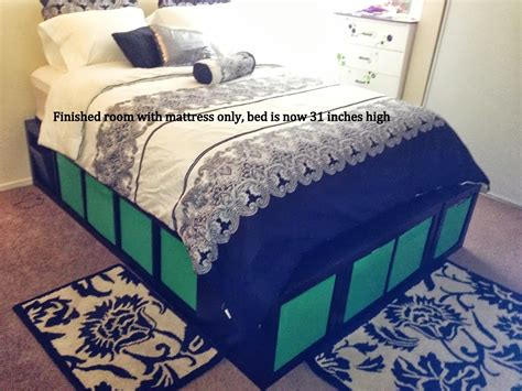 platform bed ikea hack expedit queen platform bed ikea hackers ikea hackers