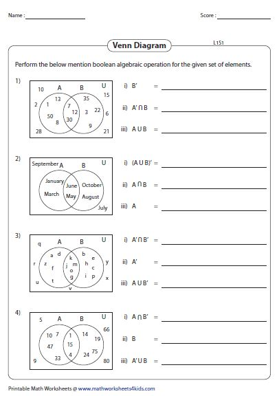 venn diagram maths worksheet venn diagram worksheets