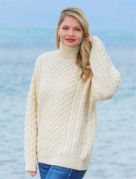 Turtle Neck Wool Sweater s merino wool turtleneck sweater aran sweater market