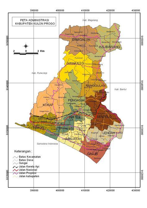peta kota peta kabupaten kulonprogo