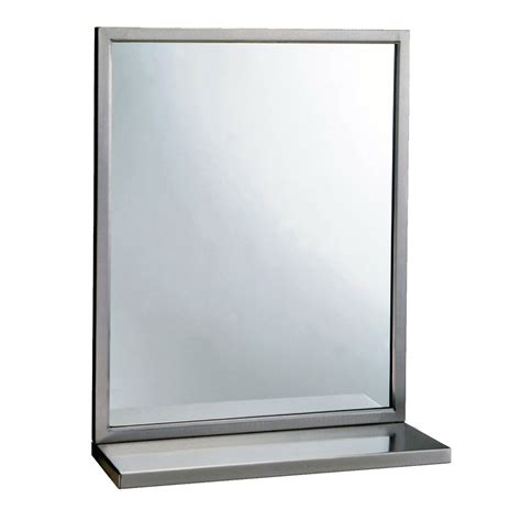 bobrick b2922436 b 292 series welded frame glass mirror