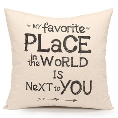 words for couch romantic retro words quotes throw cushion cover pillow