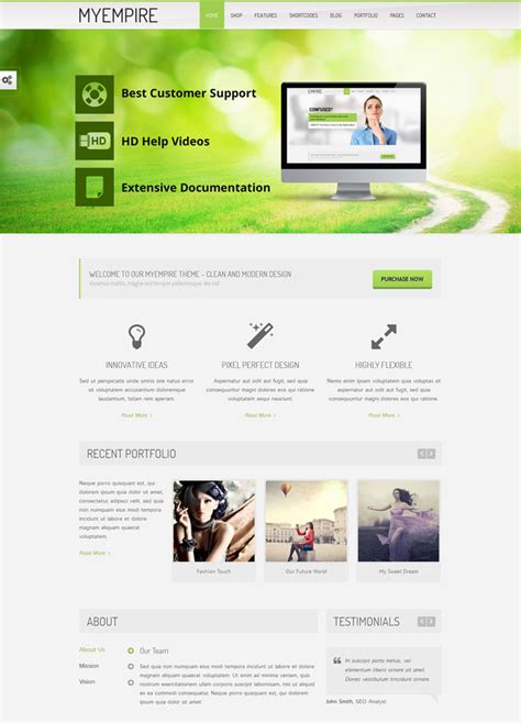 0 elegant wordpress theme