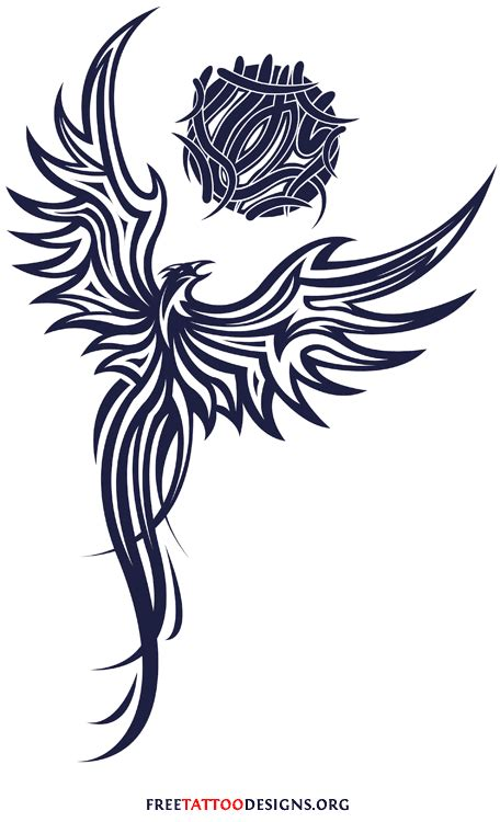 phoenix tribal tattoo tattoos 75 cool designs