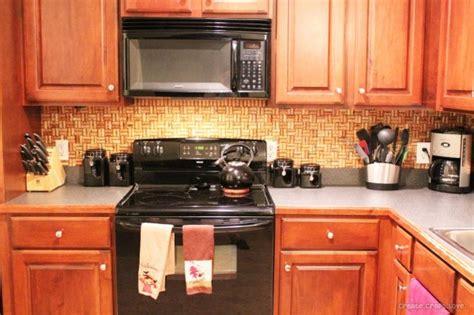 cork tile backsplash remodelaholic 25 great kitchen backsplash ideas