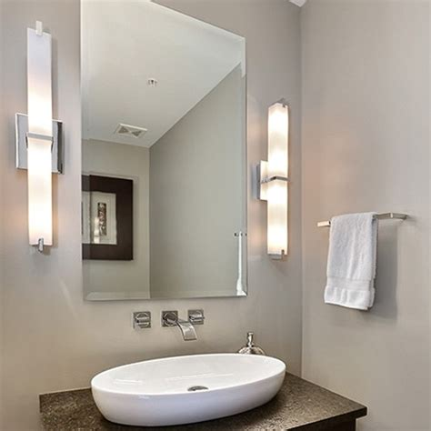 Modern Lighting Bathroom How To Light A Bathroom Vanity Design Necessities Lighting