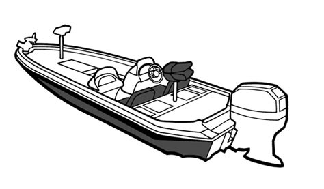 how to draw a boat motor semi custom cover for angled transom bass boat 20 6 quot x 96