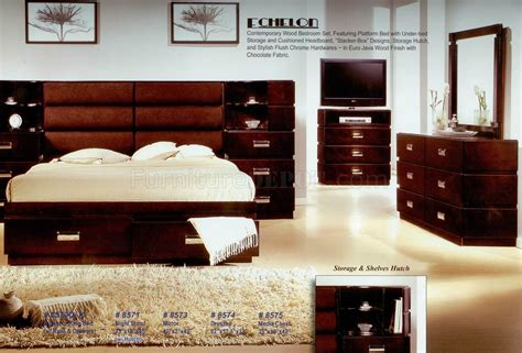 java bedroom set java finish modern bedroom w optional casegoods