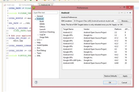 tutorial android eclipse juno android eclipse juno adt plugin ndk path removed