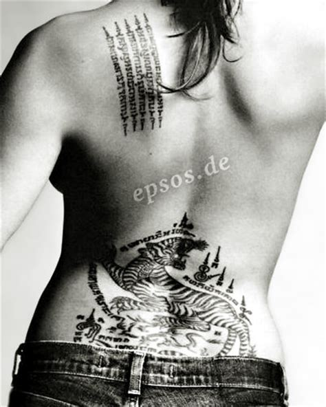 angelina jolie tattoo in wanted movie funny photos angelina jolies tattoos angelina jolie