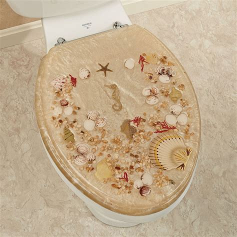 Fish Home Decor Accents by Jewel Shell Elongated Toilet Seat