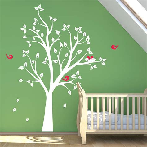 tree sticker for wall birds nests in tree wall sticker by parkins interiors