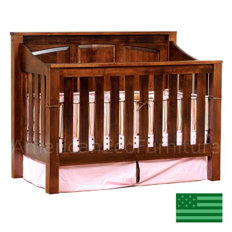 Solid Wood Convertible Cribs Mission Panel Convertible Baby Crib Made In Usa Solid Wood American Eco Furniture