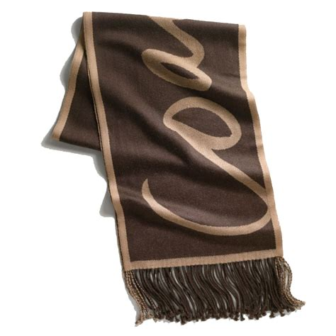 couch scarf snap n zip fashion accessories coach script scarf muffler