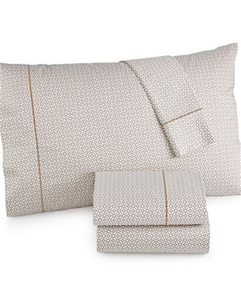 macys bed sheets hotel collection 525 thread count printed full sheet set