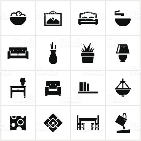 home interior design vector interior design elements icons stock vector 165814827