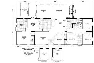 Triple Wide Trailer Floor Plans by Gallery For Gt 5 Bedroom Triple Wide Mobile Home Floor Plans