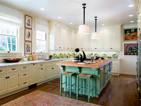 green kitchen island country kitchen photos hgtv