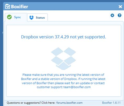 dropbox latest version dropbox version 37 4 29 supported boxifier forums