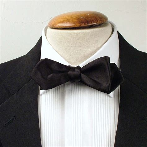 black satin pointed end bow tie 100 silk bow tie 2 quot 5 cm