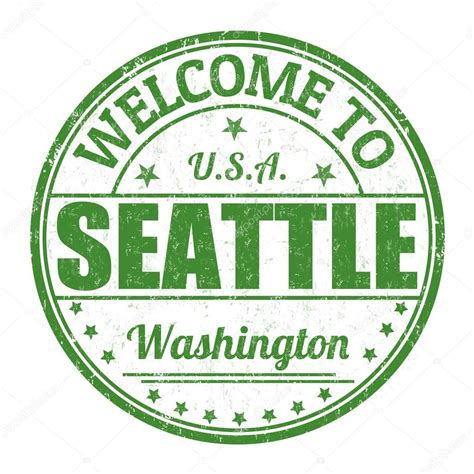 rubber sts seattle welcome to seattle st stock vector 169 roxanabalint