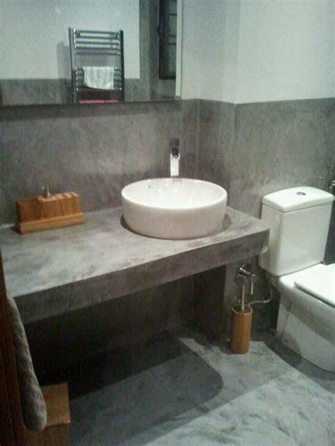 encimeras de microcemento paredes suelo y encimera lavabo en microcemento casa