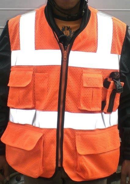 Rompi Safety Lapangan Bandara Tambang Proyek promosia mining services supplier rompi safety vest jala khusus sesuai pesanan