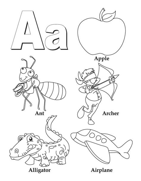 colors a to z letter a coloring pages getcoloringpages