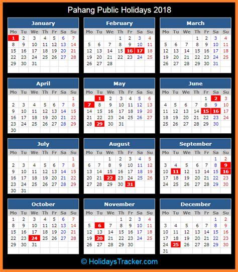 printable calendar 2018 malaysia school holiday pahang malaysia public holidays 2018 holidays tracker