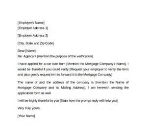 employment verification letter 14 download free