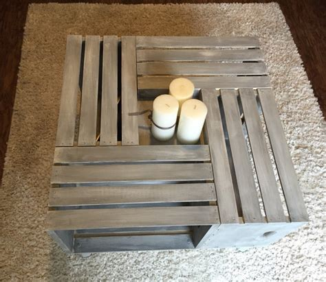 4 crate coffee table custom 4 crate coffee table
