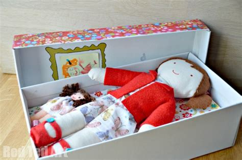 Decoupage Shoebox - doll in a box my gift to my 5yrd ted s