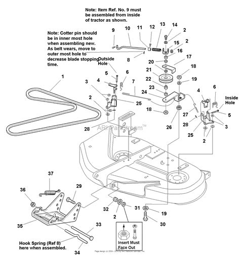 simplicity mower belt diagram simplicity 1693930 38 quot mower deck ce export parts