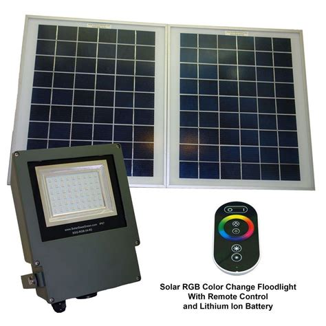 Solar Panel For Outdoor Lighting Solar Goes Green Solar Grey Color Led Changing Outdoor Flood Light With Remote Sgg Rgb