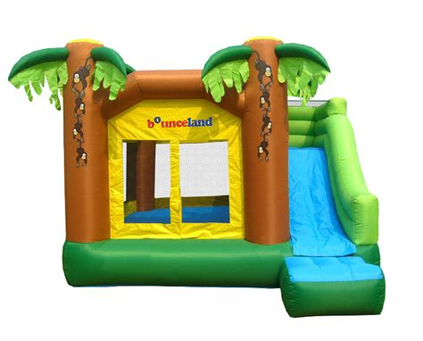 bounce house places jungle inflatable bounce house with slide review bouncyhousesforkids com