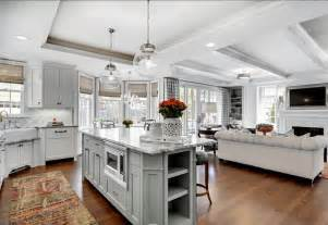Kitchen Family Room Floor Plan Designer kitchen and familyroom design ideas great design for open floor plan