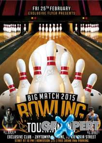 Bowling Flyers Templates Free by Free Bowling Tournament Premium Flyer Template