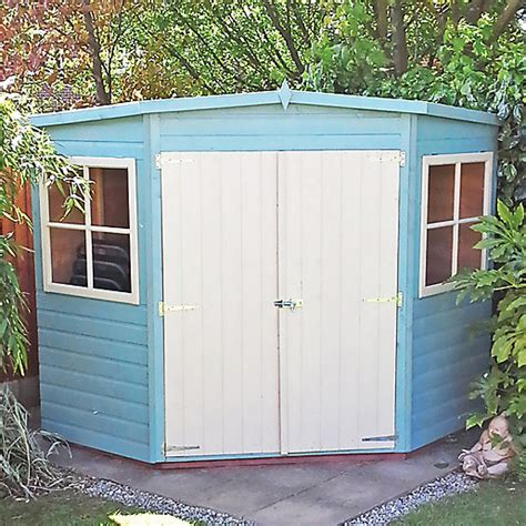 Wickes Shed Paint by Wickes Shiplap Corner Shed 2 Doors 2 Windows 10x10