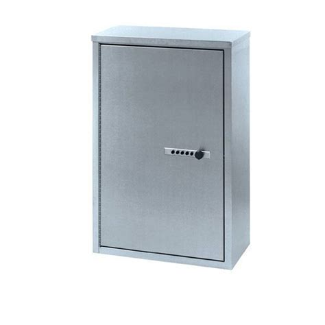 door narcotics cabinet with push button lock