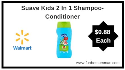 Bmks Shoo 2 In 1 With Conditioner walmart suave 2 in 1 shoo conditioner only 0 88