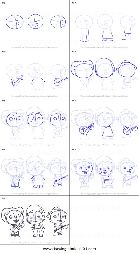 how to a prairie how to draw prairie trio from sheriff callie s west printable step by step