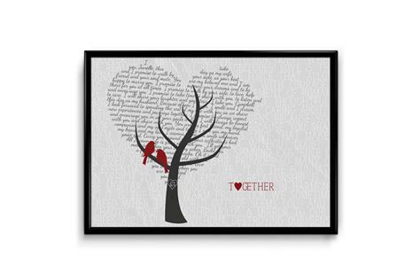 wedding vows sles wedding vow and lyrics print birds in a tree be my