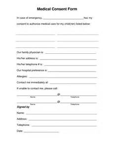 consent form template free treatment consent form sle forms