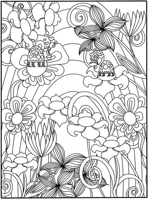 coloring pages of flowers and gardens intricate coloring pages for adults coloring home