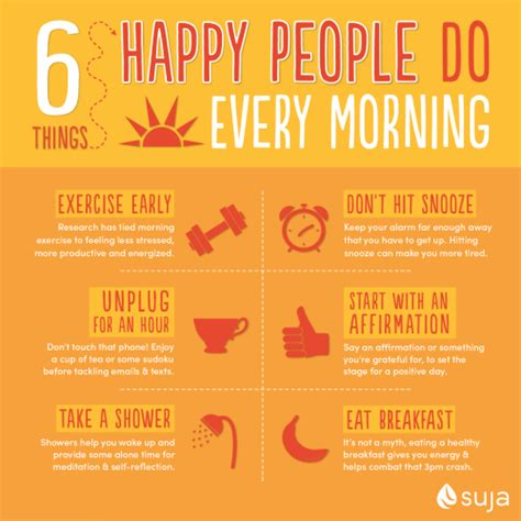 Things To Do For Healthy by 6 Things Happy Do Every Morning Suja Juice