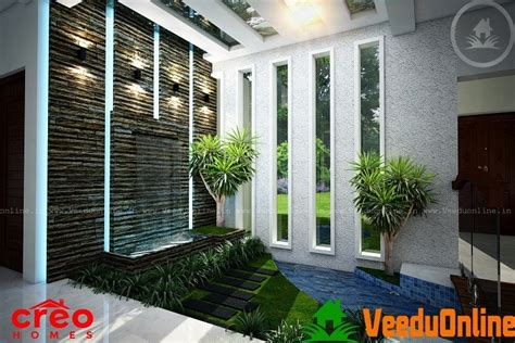 kerala home design with courtyard sq ft single floor modern villa home design home sq ft