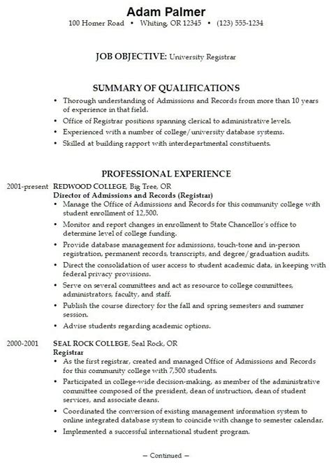 College Application Resume Exles For High School