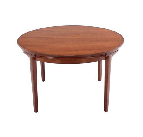 expanding round dining room table rare danish modern teak round expandable top dining table