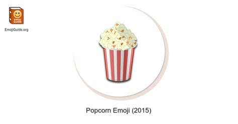 popcorn emoji meaning pictures codes emojiguide